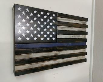 Hidden gun storage. Small American Thin Colored Line concealment flag
