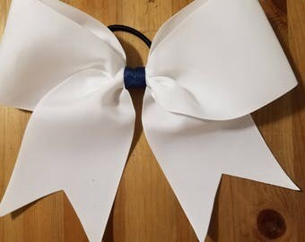 Simple White Cheer Bow