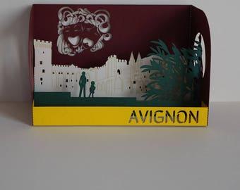 Postcard Avignon Palais des Papes 3D card