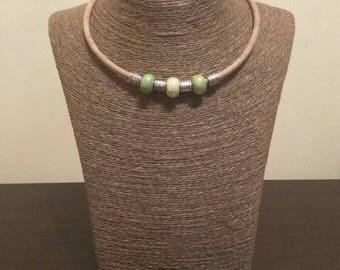 Short necklaces.