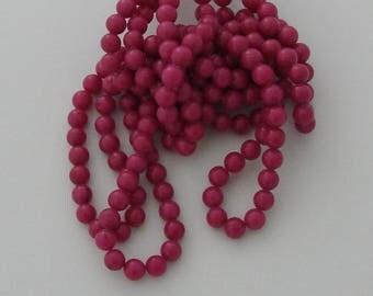 10 pearls 8mm Fuchsia jade