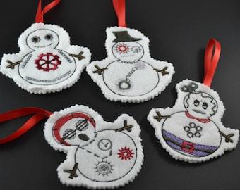 Steampunk snowman ornament