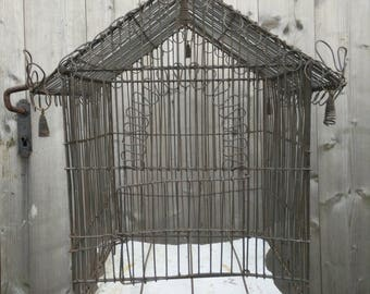 Very old and rustic birdcage..... Victorian, shabby chic, brocante, French chic, antique