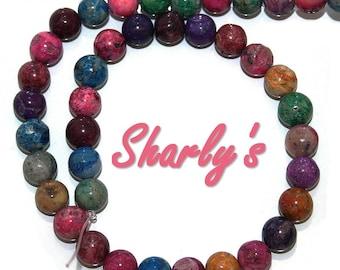 10 Opal colored beads irregular 10 mm semi precious