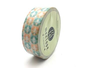x1 rouleau de 10m de masking tape washi tape blanc motifs vintage: DM0020