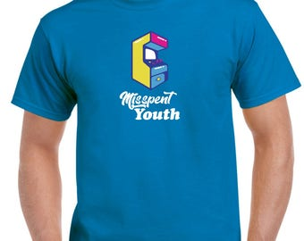 Misspent Youth Retro Arcade Gaming T-Shirt