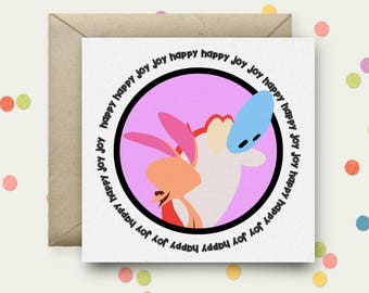 Ren & Stimpy Square Pop Art Card and Envelope
