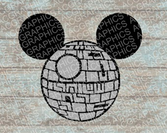 Death Star Mouse Head SVG, DXF, JPEG, and Studio Downloads
