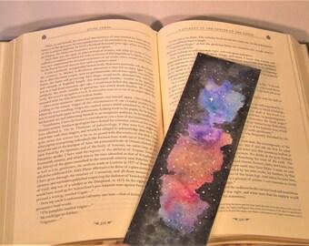 Watercolour Galaxy Bookmark Multi Colour