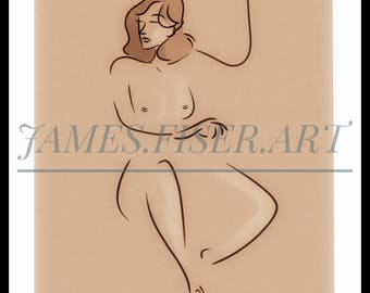 11x17 gesture of woman