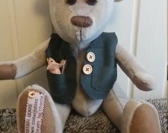 Hand sewn artist bear