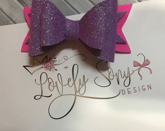 Glitter collection bow