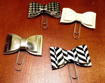 Silver Bow Planner Clip; Page Marker; Journal Clip; for Traveler's Notebooks, Happy Planner, Erin Condren