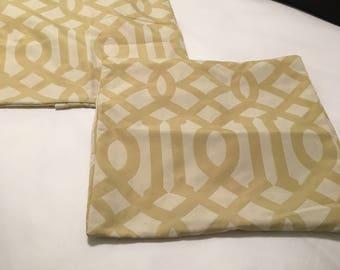 Pair Imperial Trellis Pillow Covers 18 x 18 (Citrine)