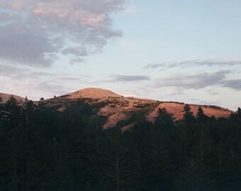 Redwood City Mountains, California Travel Photograph, Landscape Print