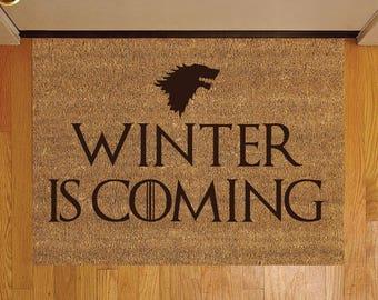 Game Of Thrones GOT Winter Is Coming Coir Welcome Door Mat