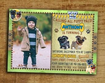 Puppy Dog Pals Birthday Invitation, Puppy Dog Pals Invitation, Digital-Printable Puppy Dog Pals Birthday Invitation, Puppy Dog Pals Party