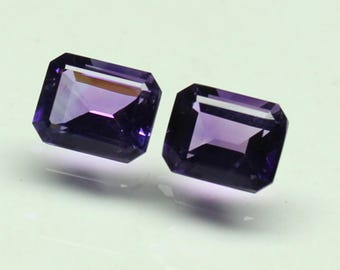 AAA Amazing Natural purple African Amethyst Size 8x10 MM faceted 5 PCs Lot Octagon CODE :- AQ09