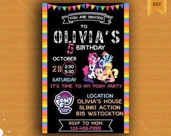 My Little Pony Invitation, My Little Pony Birthday, My Little Pony Bithday Invitation, My Little Pony Party, My Little Pony, Any Age Invite