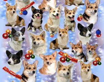 Corgi Dog Christmas Gift Wrapping Paper.