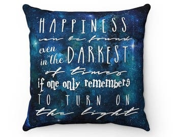 Happiness - Faux Suede Square Pillow