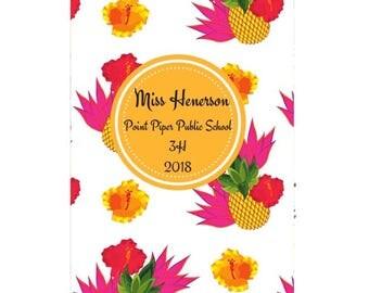 Hibiscus Pineapple Teacher Planner 2018