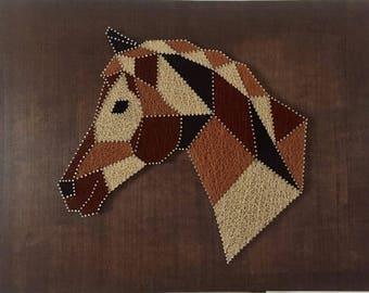 Three Brown horse