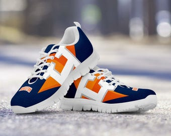 Houston Astros Baseball Fan Custom Running White Shoes/Sneakers/Trainers - Ladies + Mens Sizes