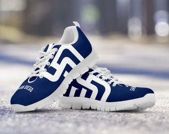 San Diego Padres Baseball Fan Custom Running White Shoes/Sneakers/Trainers - Ladies + Mens Sizes