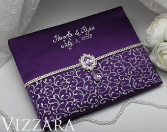Weddings Guest Book The Purple Wedding Personalized And Grey
