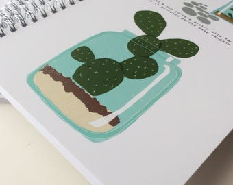 Notebook line CosaTinta cactus forest il cartolaio