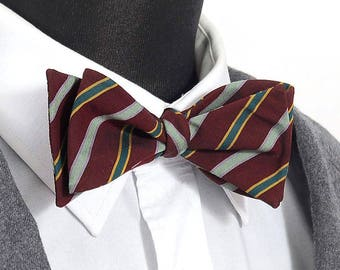"""Bow tie 100% cotton striped """"George"""" / """"George"""" striped cotton Bow Tie"""