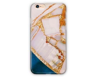 iPhone & Samsung Marble Gold, White, Blue Phones Cases iPhone 7 7Plus, iPhone 6/6Plus iPhone5 Samsung Galaxy S7/7 edge / S6 / S6 edge/S5