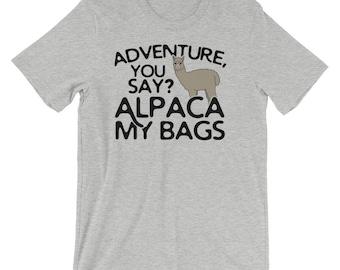 Funny Alpaca Lover Shirt Alpaca My Bags Tee