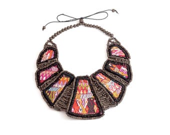 Beaded and Embroidered Necklace