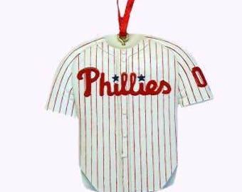 Philadelphia Phillies Jersey Personalized Christmas Ornament