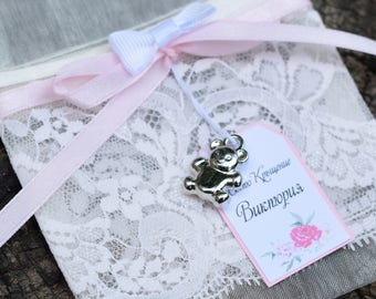 Ivory Organza Bags ~ 9 x 7 cm ~ Spell bags ~ Wedding favour bags ~ Gift bags.