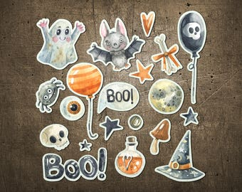 """Printed Chipboard Shapes #010 """"Boo!"""""""