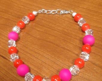 Pink/orange bracelet