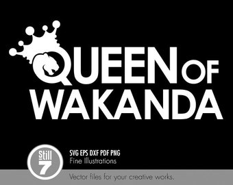 Queen of Wakanda emblem - svg eps dxf pdf png