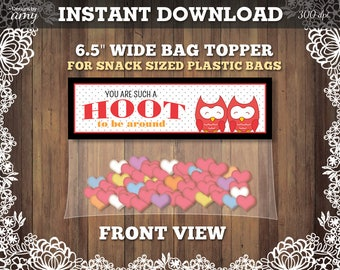 Valentine Bag Toppers, Printable Bag Toppers, Treat Bags, Valentines Party, Valentine Gift Bags, Valentine Treat Bags, Instant Download