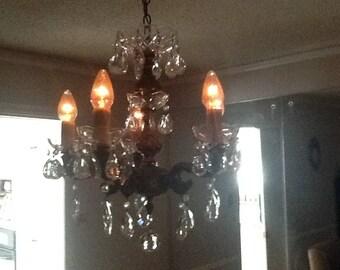 Vintage crystal chandelier!