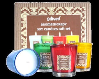 Omved Aromatherapy Soy Candles Gift Set