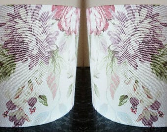 Lampshades Pastel Floral/ Handmade Light Shades / Pair of Lampshades / Pink / Purple /For Floor Lamp/ For Ceiling Lamp / Pendant / Drum