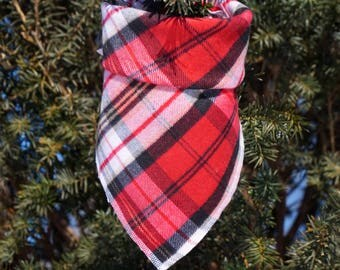 Harper | Plaid Dog Bandana | Dog Bandana | Dog Scarf | Traditional Square Bandana |