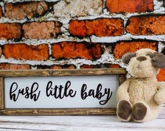 Hush Little Baby Nursery Decor Woodland Nursery Wall Art Baby Room Decor Baby Shower Gift Kids Room Decor Childrens Wall Art Nursery Art