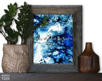It is Well with My Soul, Religious Decor, Religious Wall Art, Religious Art, Spiritual Art, Christian Home Decor, Christian Wall Decor