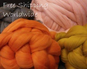 HOT SALE! Giant Yarn, Merino Wool Chunky Yarn Arm Knitting Bulky Thick Fluffy Jumbo Yarn For DIY Arm Knit Blanket Throw Scarf. Free Shipping