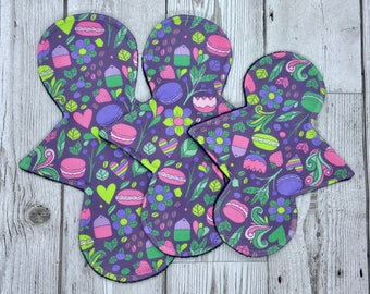Macaron Cloth Pad, Narrow Cloth Panty Liner, Reusable Cloth Pads