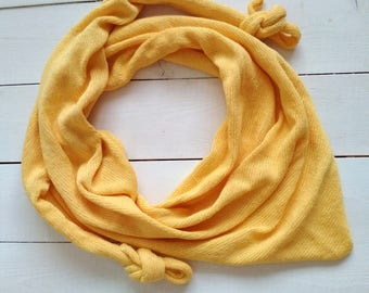 Yellow minimalist scarf Minimalist scarf Minimalist triangle scarf Grey minimalist triangle scarf Knitted scarf Knitted Eco cotton scarf